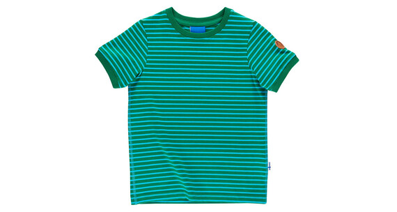 Finkid Renkaat Shortsleeve Shirt Kids leaf/pool